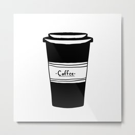 Black and white coffee Metal Print