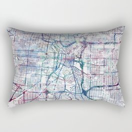 San Antonio map Rectangular Pillow