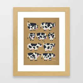 Cow Collection - Kraft Framed Art Print