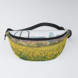 Minneapolis Minnesota Skyline and Sunflowers-Mpls Fanny Pack
