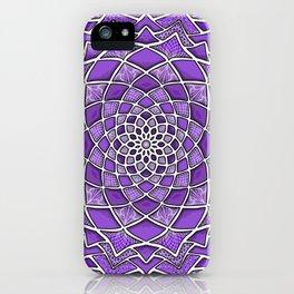 12-Fold Mandala Flower in Purple iPhone Case