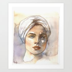 turbante Art Print