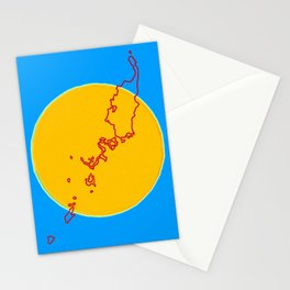 Palau Flag with Palauan Map Stationery Cards