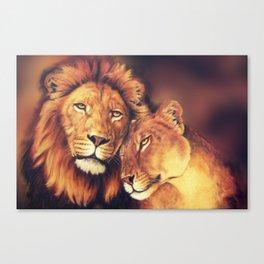 Lions Soulmates Canvas Print