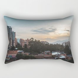 Cityscape of the barrio of El Poblado in Medellín, Colombia Rectangular Pillow