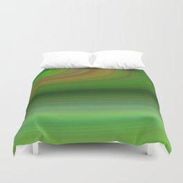 Green background elliptical Duvet Cover