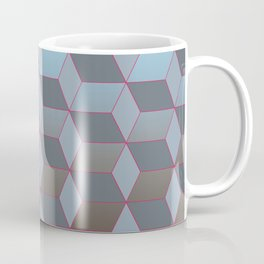 Abstract gradient background with geometric lines Coffee Mug