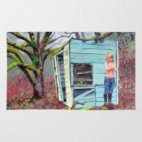 nudes Area & Throw Rugs featuring Lewiston Biltmore by Kim Leutwyler