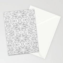 Pattern Grey / Gray Stationery Cards