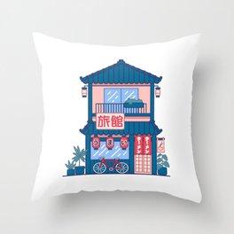 Ramen shop Throw Pillow