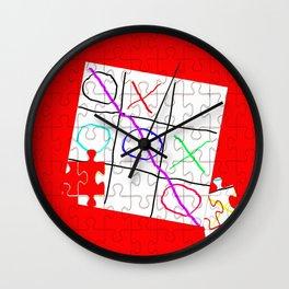 Naughts & Crosses - again Wall Clock