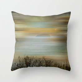 Misty Steepholm Throw Pillow