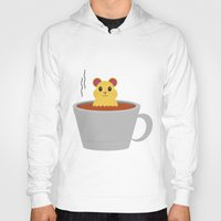 hamster Hoodies featuring Hamster Bath by Cecily Cloud
