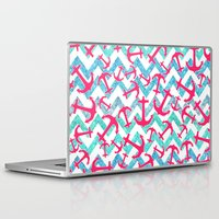 anchors Laptop & iPad Skins featuring Anchors Confusion by Girly Trend