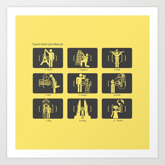 Tourist Shot User Manual Art Print