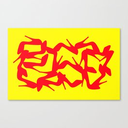 Shoe Fetish (Version 2) in Red and Yellow by Bruce Gray Canvas Print