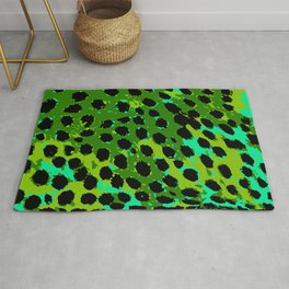 Cheetah Spots in Green and Blue Rug