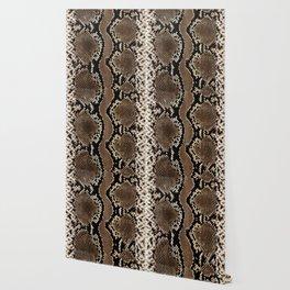 Faux Rock Python Snake Skin Design Wallpaper