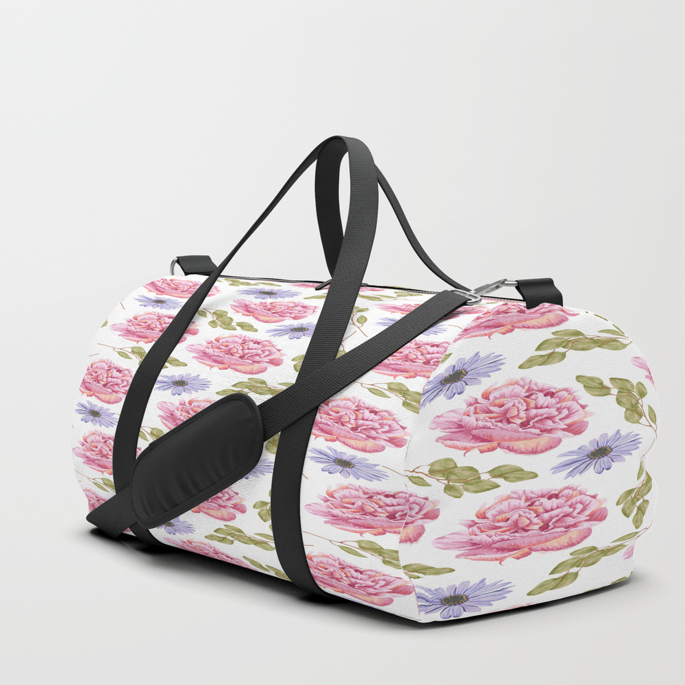 Flowers, Flowers And Leaves Duffle Bag by Goosh DFL8880380