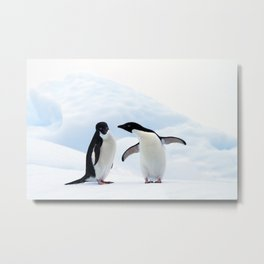 Adelie Penguins Metal Print