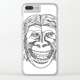 Humanzee Smiling Doodle Clear iPhone Case