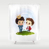 stiles Shower Curtains featuring Sterek - Hale Kingdom by siny