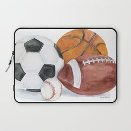 Sports Balls Watercolor Painting Laptop Sleeve