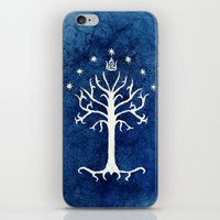 gondor iPhone & iPod Skins featuring The White Tree by Jackie Sullivan