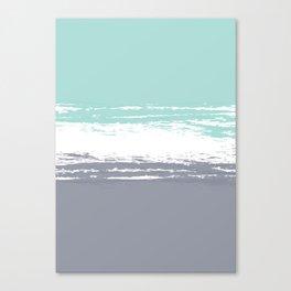 Pastel Color Blocks - Teal & Petroleum Canvas Print