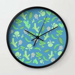 A Whole Lotta Succulent Cuttings Wall Clock