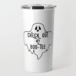 Halloween Quote Gift Check Out My Boo Tee Gift Travel Mug
