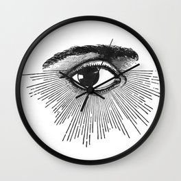 I See You. Black and White Wall Clock