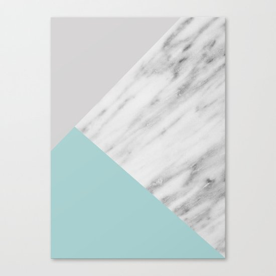 Ice Color Marble Collage Canvas Print