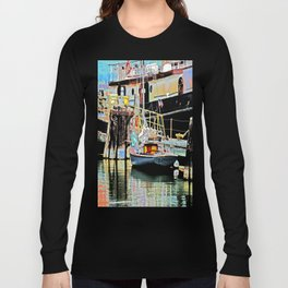 A Harbor view of Coos Bay Long Sleeve T-shirt