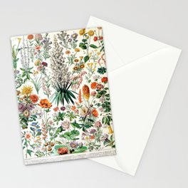 Adolphe Millot - Fleurs B - French vintage poster Stationery Cards