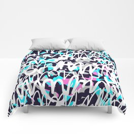 Graffiti illustration 02 Comforters