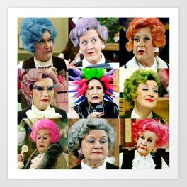 The Faces of Slocombe Art Print