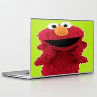 duvet cover Laptop & iPad Skins featuring ELMO DUVET COVER by aztosaha