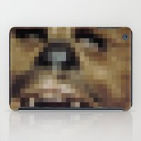 chewbacca iPad Cases featuring Pixel Chewbacca by Tee Brain Creative