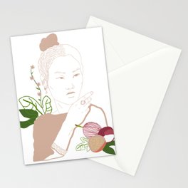 Japanesse Woman Stationery Cards