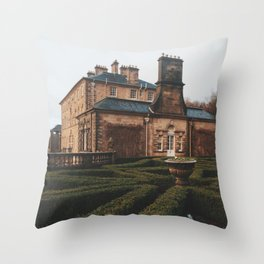 Gloomy Pollok Country Park Throw Pillow