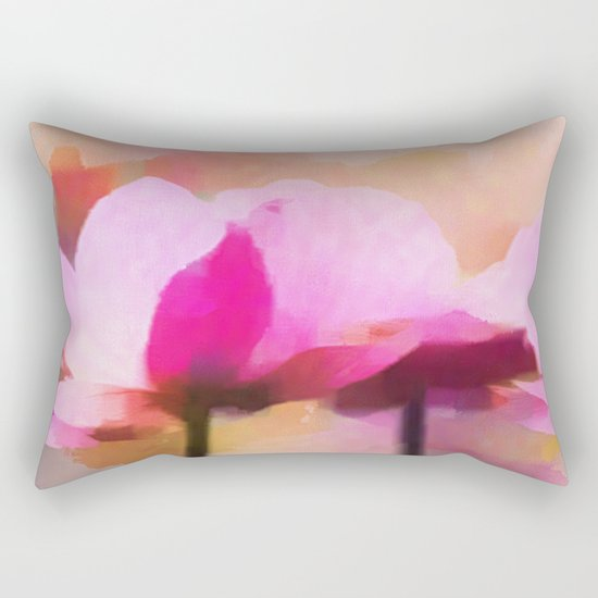 Anemone abstract hand painted Rectangular Pillow
