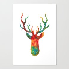 Psychedelic Stag Canvas Print