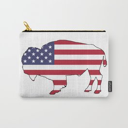 American flag - Bison Carry-All Pouch