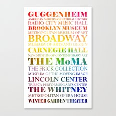New York City - arts in color Canvas Print