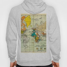 Map of the old world Hoody