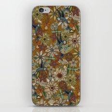 nectar bird garden gold iPhone & iPod Skin