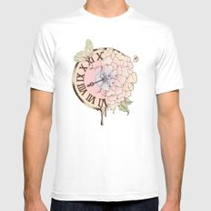 Il y a Beauté dans le Temps (There is Beauty in Time) White MEDIUM Mens Fitted Tee
