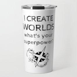 I Create Worlds Travel Mug