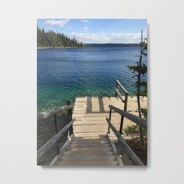 Jenny Lake Boat Dock Metal Print